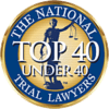 National Trial Lawyers Top 40 Under 40 Badge