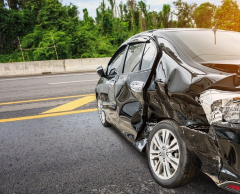 Car accident photograph