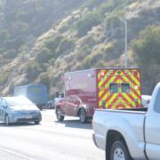 North Las Vegas, NV - Police Investigating Injury Car Wreck on 215 Belt at Hwy 95