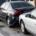 North Las Vegas, NV - Police Investigate Injury Car Crash on Hwy 95 at I-15/Spaghetti Bowl